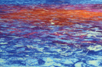 """wie oben so unten"", Galerie Artary, Stuttgart, 2011, Pigment, Detail"